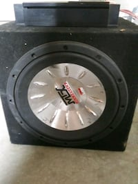 black and gray MTX Audio subwoofer speaker Edmonton, T5K 2J2