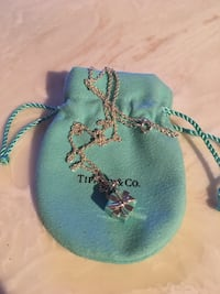 Tiffany & Co Gift Box Pendant with thicker T&Co chain NEW New York, 11375