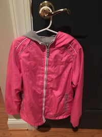 Girls size 8 Oshkosh pink and gray double sided jacket  Centreville, 20120