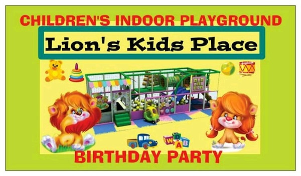 Used Lions Kids Place Birthday Party Poster For Sale In Brooklyn