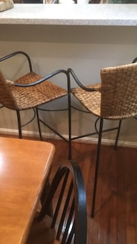 brown wooden table with two chairs 19 mi