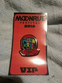 Moonrise festival vip hat pin Rockville, 20853
