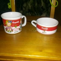 2 1993 VINTAGE CAMPBELL'S SOUP MUGS St. Catharines