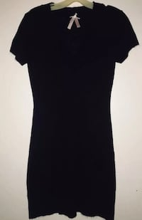 Black Sweater Dress by Derek Heart Sz Large V-Neck  Stillwater, 74074