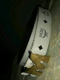 white and black Louis Vuitton leather belt 1216 mi