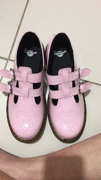 Pink patent leather Mary janes Doc Martens  Sunrise