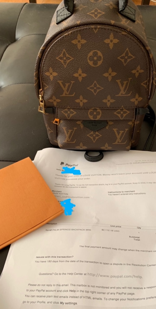 1cb2ec82fb8e3 Used Louis Vuitton Palm Springs mini backpack for sale in New York ...