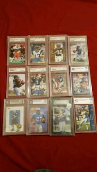 12 graded football cards  Jessup, 20794