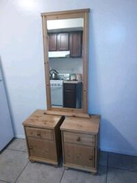 2 lamp tables end mirror Tempe, 85281