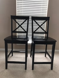 Black wood counter stools Gaithersburg, 20878