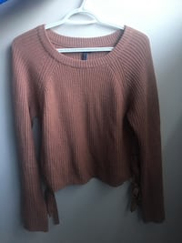 Women's sweater shirt with tie ups on sides