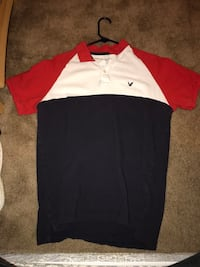 red, white, and black polo shirt Middletown, 21769