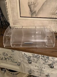 Clear acrylic make up/jewelry holder