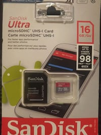 SanDisk Ultra Plus micro SD card with adapter Edmonton, T5A 4C6