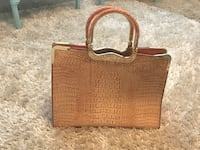 brown leather crocodile skin tote bag Bluffdale, 84065