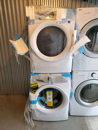 New Electrolux washer and gas dryer set