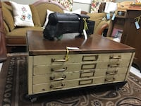 Antique Drafting Drawers Coffee Table London, N6E