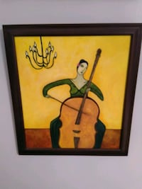 Painting of Woman with Bass