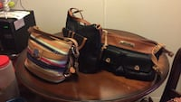 two black leather shoulder bags Bakersfield, 93308
