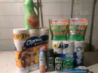 assorted-brand household cleaning product lot 379 mi