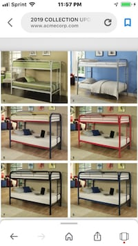 $260.00 we have six colors available $500.00 w/2   Mattress