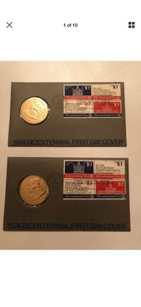 1974 bicentennial 1st day cover with medal Broomall, 19008