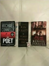 three novel books