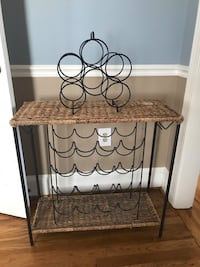 black metal framed brown wicker rack Arlington, 22201