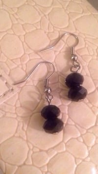 Black Crystal Earrings  Edmonton, T5W 2L5