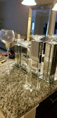 Mirrored candle holders decor goodies(6 pieces) Odenton