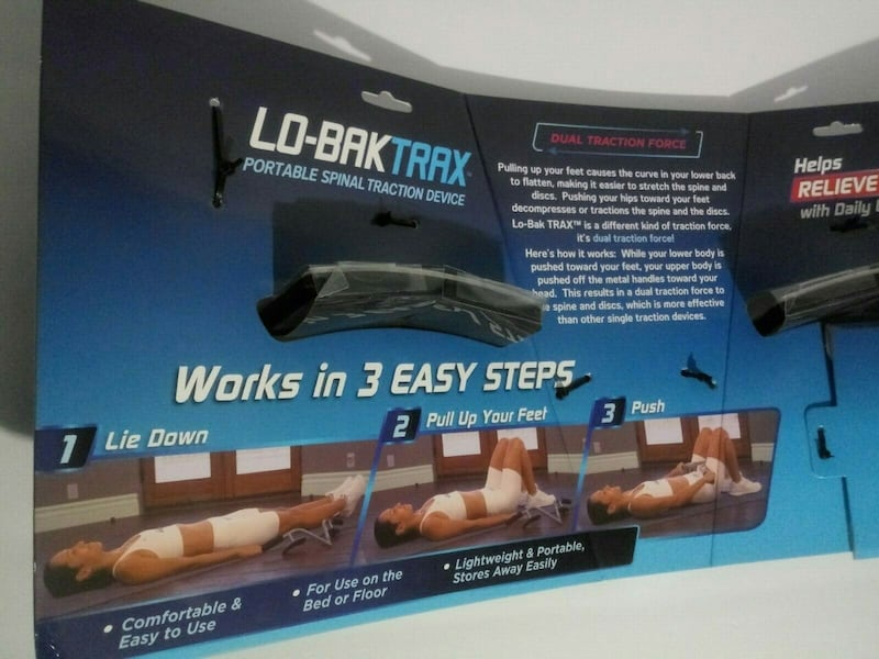 NEW Lo-Bak Trax portable Spinal Traction Device & Bonus Stretches DVD 683c392c-2f37-4e67-bc92-d4e8cd5e50ef