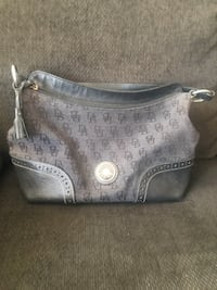 Dooney and Burke gray and black leather handbag LASVEGAS