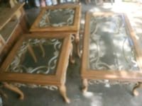 Iron rod tables and table