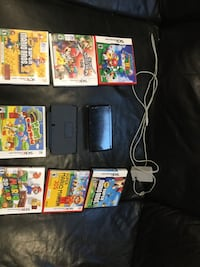 Black nintendo 3ds with game cases Vaughan, L4H 1H5