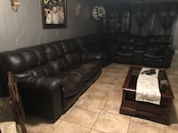 black leather sectional sofa with ottoman 1151 mi
