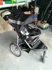 baby's black and gray jogging stroller Brampton, L6V 4C2