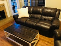Brown Leather Sofa and Love Chair Cumming, 30040