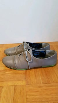 Grey + Neon Green Leather Brogues Vaughan, L4L 9E9