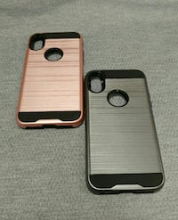gold and silver iPhone X cases