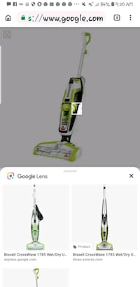 white and green upright vacuum cleaner screenshot Riverbank, 95367