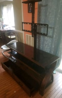 black glass TV stand with mount Arlington, 22204