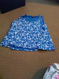 blue and white floral skirt Calgary, T2W 0J7