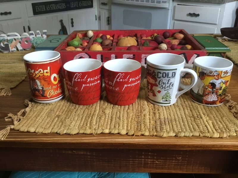 Assorted Mugs ~ RED TONES 0