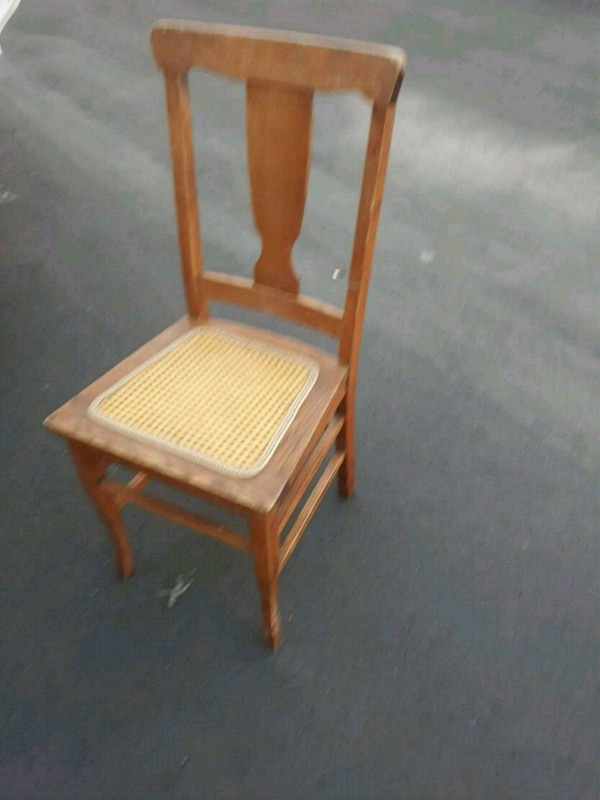 Vintage cain seat wooden chair. I HAVE 1 MORE.