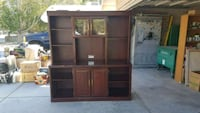 brown wooden TV hutch with cabinet Littlerock, 93543
