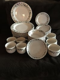 white-and-green floral ceramic dinnerware set Lake City, 49651