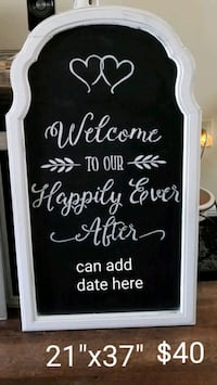 Wedding chalkboard  Brandon, 33510