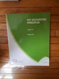 Key Accounting Principles Volume One by Neville Joffle book Toronto, M1M 3M9