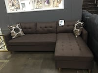 Reversible fabric sectional. Brand new. Colors: Black, Brown and grey.  Frisco, 75034