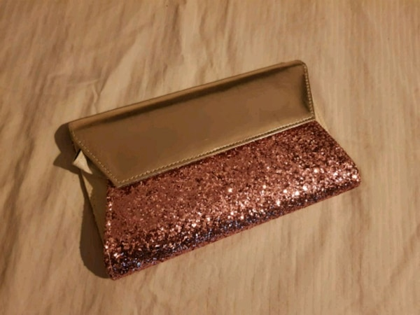 brown and pink leather wallet
